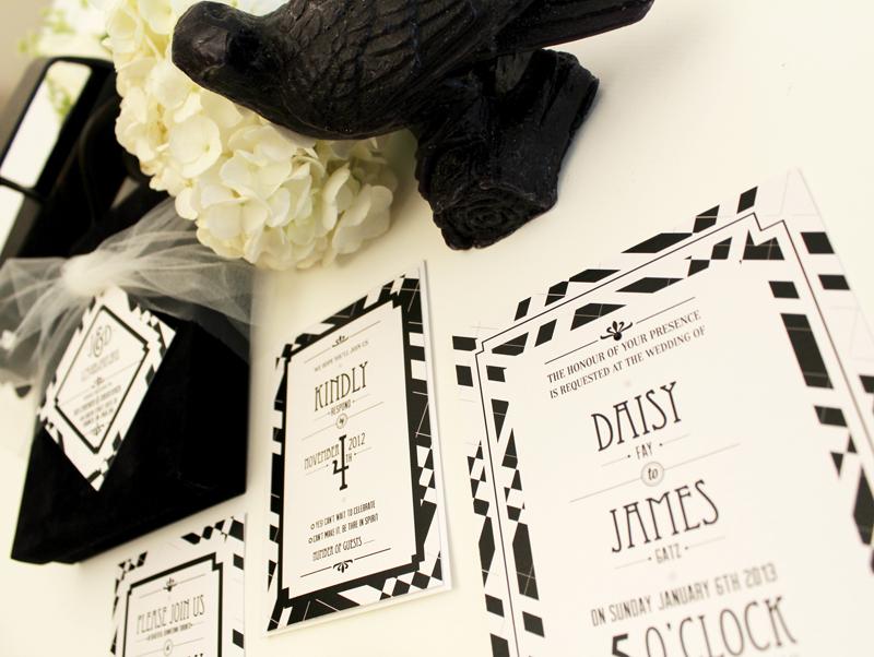Velvet Wedding Invitations: Gatsby Black Velvet Boxed Wedding Invitation