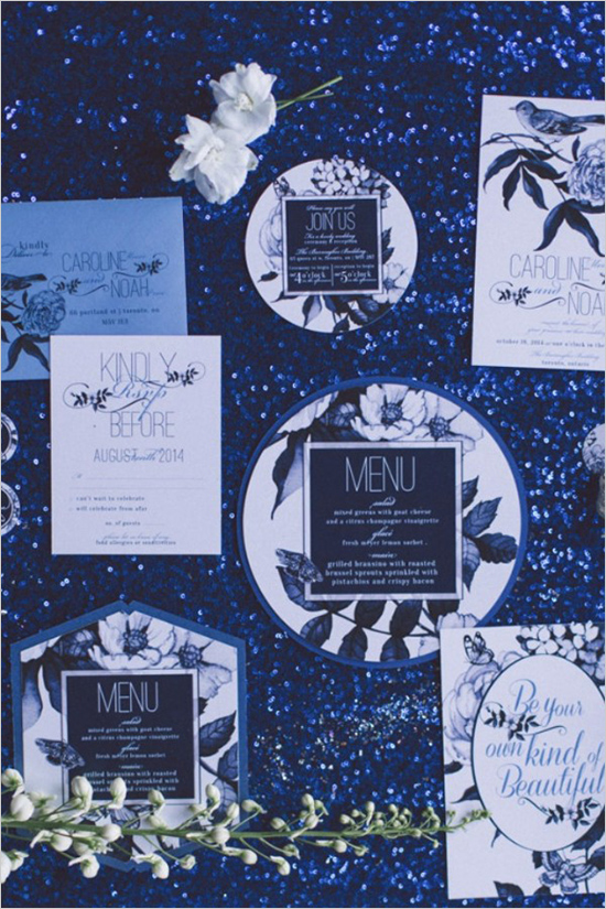 blueandwhitefloralweddingstationery